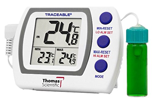 Thomas Traceable Refrigerator/Freezer Plus Thermometer, with 5mL Vaccine Bottle, -58 to 158 degree F