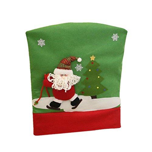 Agordo Santa Clause Christmas Dining Chair Back Cover Home Party Xmas Decor Gifts by Agordo