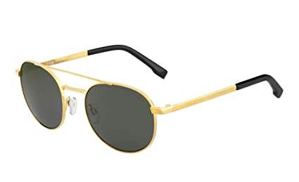 730c399e7d4e4 Amazon.com   Bolle 12585 OVA Shiny Gold Sunglasses