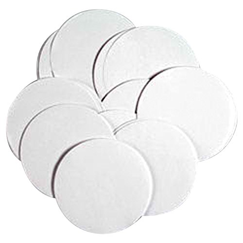 Neil Enterprises Circle Pre-Cut Paper, 3 Inches, White, Pack of 100