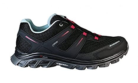 best place on feet images of exclusive range Mammut MTR 71 Low GTX® Women, 00044 black-dark magenta, 5 ...