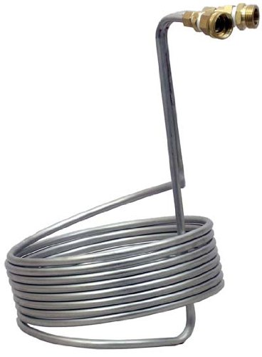 Stainless Steel Immersion Wort Chiller w/Garden Hose Fittings by NY Brew Supply