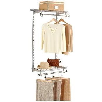 Rubbermaid Configurations White Add On Shoe Shelf Kit