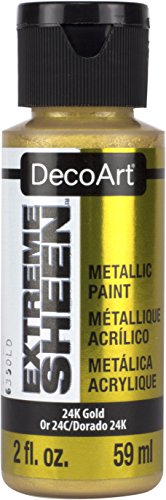 DecoArt 2 Ounce, 24K Gold Extreme Sheen Paint