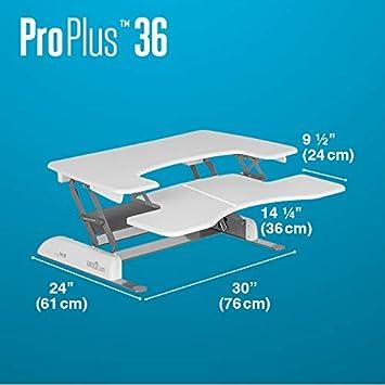 Black Height-Adjustable Standing Desk VARIDESK Pro Plus 36