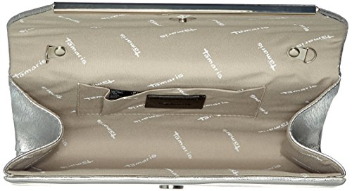 Tamaris Nilla Clutch Bag - Pochette da giorno Donna, Silber (Silver), 5.5x10x24 cm (B x H T)