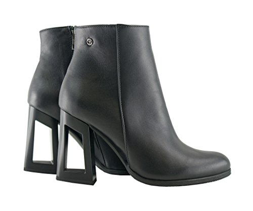 43f18d37d5ac ... Leather BOSCCOLO 4662 Stiefeletten, Boots With Hollow Heel, Booties,  Bottes, Leder, ...