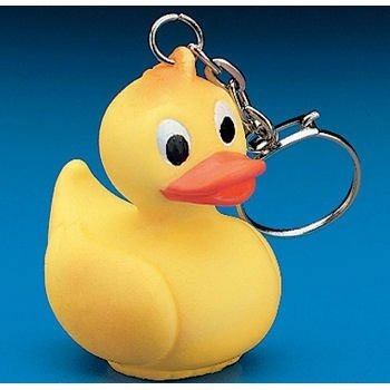 (12 Rubber Duck Ducky Duckie Keychains Baby Shower Birthday Party Favors, 2