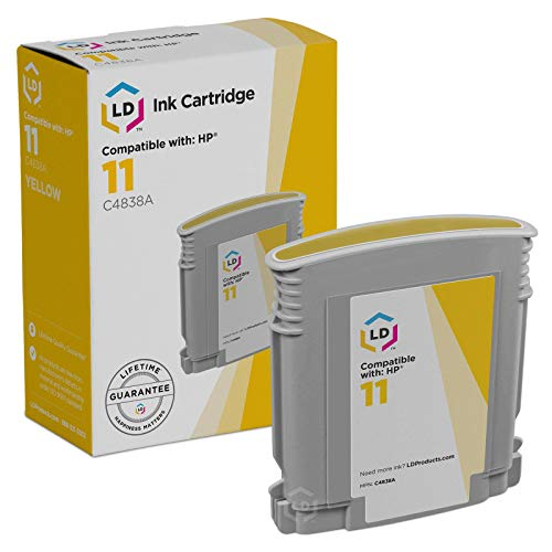 - LD Remanufactured Ink Cartridge Replacement for HP 11 C4838A (Yellow)