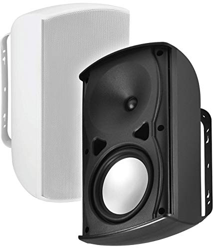 Clarity Speakers Outdoor (AP670 6.5-Inch 120W Architectural 2-Way Indoor/Outdoor Weather-Resistant Patio Speakers - OSD Audio - (Pair, White))