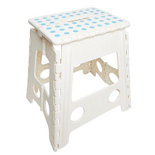 JMS Large Plastic Folding stools - UP TO 150 KG CAPACITY to Choose (White) JMS Photos
