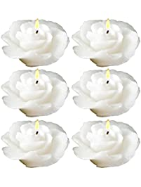 biedermann u0026 sons roseshaped floating candles in white pack of 12