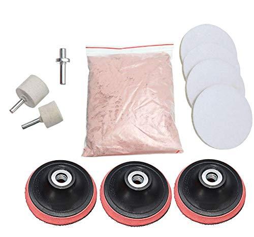 11Pcs 3inch Pad 230g Cerium Oxide Windscreen Scratch Remover Glass Polishing Kit by AdvancedShop