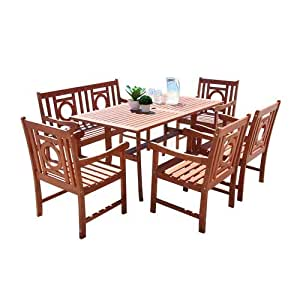 Vifah Malibu Collection v189set29 6 pc conjunto de comedor ...
