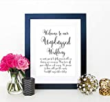Unplugged Wedding Ceremony Sign, Unplugged Ceremony Sign, Unplugged Wedding Sign, Turn Off Cell Phone & Camera Signage, Your Choice of Size and Color Print Sign (UNFRAMED)