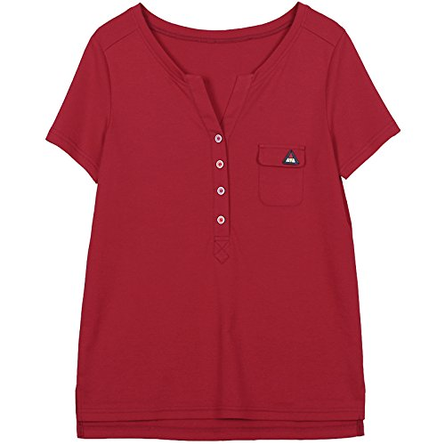 Vita Da shirt Sottile Nero Allentata Maniche T Con Corte A Donna Momo412651 Alta gvfSwf