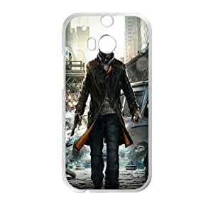 HTC One M8 Cell Phone Case White Watch Dogs Video Game Ydoth
