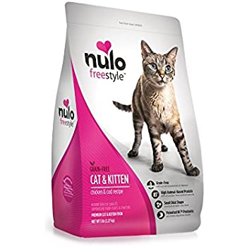 Nulo Adult Kitten Grain Free Dry Cat Food With Bc30 Probiotic Chicken 5lb Bag