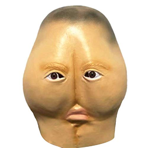 ifkoo Weird Buttock Novelty Funny Halloween Cosplay Party Costume Latex Head Mask