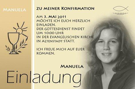 Individuelle Fotokarten Als Einladung, Einladungskarte, Kommunion,  Konfirmation, Firmung Im Format 10x15 Cm Inkl. Hochwertigem Farbigen C6  Umschlag: ...