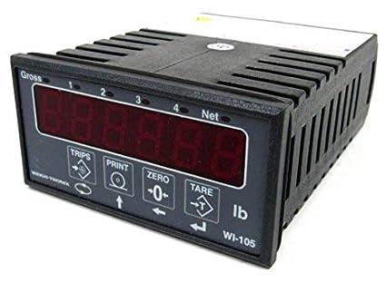 USED  WEIGH TRONIX WI-105 DISPLAY METER WI105