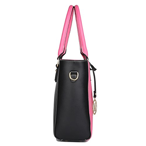 Plum Shoulder Elegant V Handbag Shape for Handle Women Fashion Leather Top Handbags Look Design Lulu Miss qWnFTAT