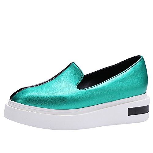 Latasa Womens Platform Slip On Loafers Turquoise BH6j27