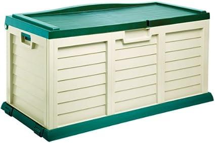 Proqom - Contenedor de plástico (390 L, para almacenaje en jardín y cobertizo,