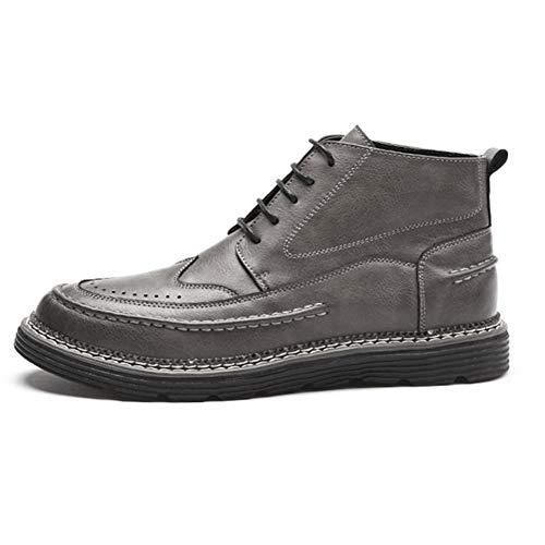 5 5 5 da 1 10 Stivali Martin 5 Gray Gray Gray Gray Tempo Gray EU41 8 Colore QIDI Cotone US9 UK7 Libero 2 Stivaletto Uomo Moda Scarpe Dimensioni Nero gtawTqd