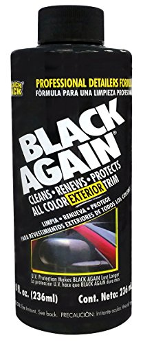 Blue Magic NA647 Black Again Exterior Trim Detailer - 8 oz.