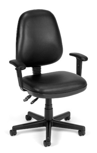 (OFM 119-VAM-AA-606 Straton Series Anti-Microbial/Anti-Bacterial Vinyl Task Chair with Arms)