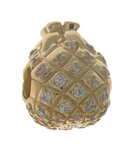 PANDORA Golden Pineapple 18k Gold Plated PANDORA Shine Collection Charm - 767904CCZ by PANDORA (Image #1)