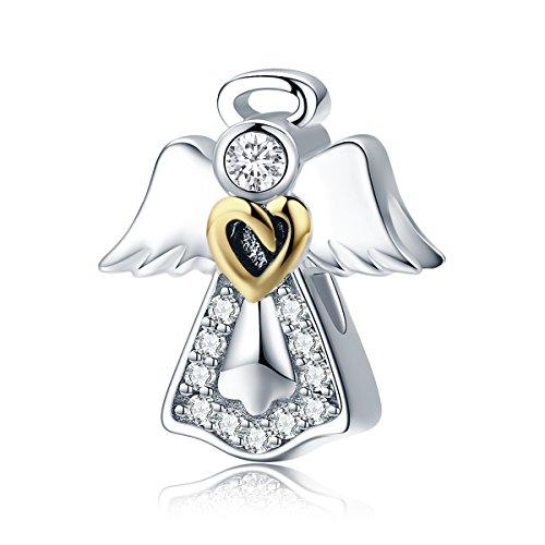 Everbling Guardian Angel Love 925 Sterling Silver Bead Fits European Charm Bracelet