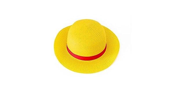 Sombrero de Paja para One Piece Monkey Luffy Ruffy Disfraz  Amazon.es   Juguetes y juegos 6e15b7efcac