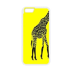 "T-TGL(RQ) Iphone6 4.7"" Hard Back Cover Case Back Skin Giraffe with Hard Shell Protection"