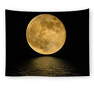 Moon Pattern Scence Decorative Wall Hanging Tapestry Tablecloths Picnic Mat Yoga Mats Wall Hanging Throw Blanket Beach Towel Living Room Bedroom Decorative