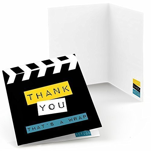 Hollywood Stationery (Movie - Hollywood Party Thank You Cards (8 count))
