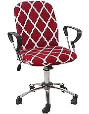Bedrukt Stretch Hoes Voor Bureaustoel, 2 Stucks Eetkamerstoel Beschermer Comfortabel Bureaustoelhoes Draaistoel Afneembaar Voor Bureaustoel