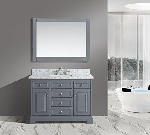 UrbanFurnishing net Rochelle 48 Inch Bathroom Charcoal