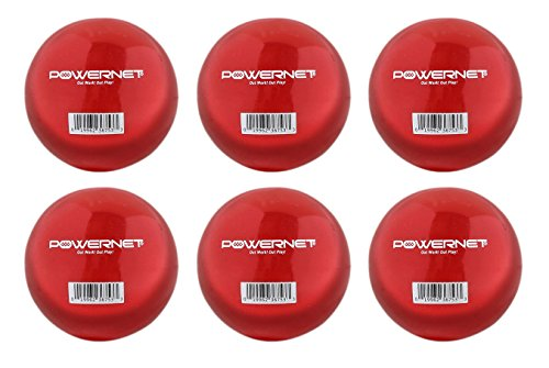 """PowerNet 3.2"""" Weighted Hitting Batting Training Balls (6 Pack) 