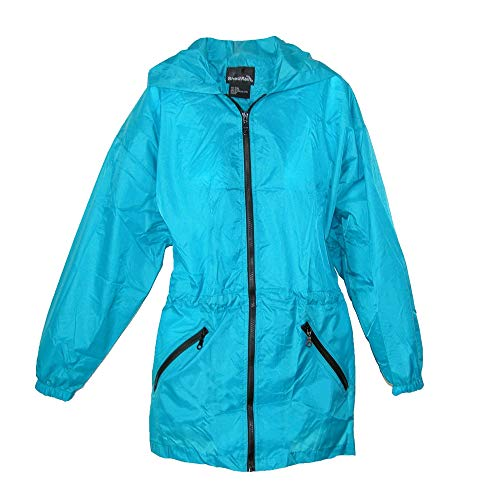 ShedRain Women's Packable Fashion Teal Color Anorak Rain Jacket, S/M-4/6, Teal (Best M4 On The Market)