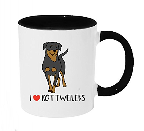 Heart Rottweiler - I Heart Rottweilers Coffee or Tea 11oz Mug - Perfect Gift for Dog and Animal Lovers
