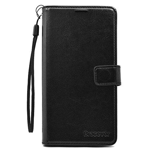 Bracevor Lenovo Vibe K4 Note Premium Leather Case *Inner TPU, Wallet Stand, Flip Cover – Executive Black