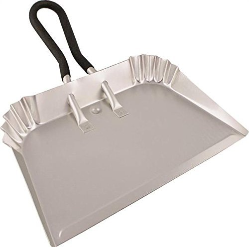 "Edward Tools Extra Large Industrial Aluminum DustPan 17"" - Lightweight - Nearly half the weight of steel dust pans with equal strength - For large cleanups - Rubber Loop handle for comfort / hanging"