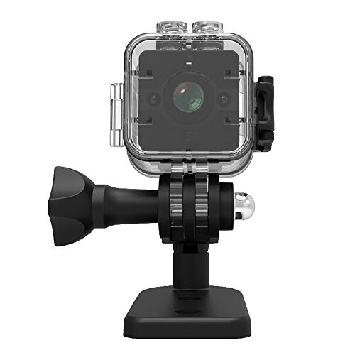 TechCode Action Camera for Sport, HD1080P Mini Camera 155 Degree Ultra Wide-Angle Lens Camcorder Waterproof Camer Sport DVR Infrared Night Vision Portable Handheld Micro Cam with Motion Detection