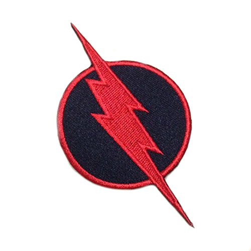 "J&C Family Owned DC Comics Reverse ""Flash"" Logo 3"" Comics Embroidered Sew/Iron-on Patch/Appliquees"