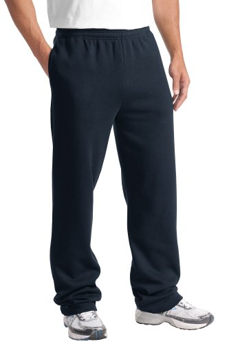 Sport-Tek Open Bottom Sweatpant. ST257 True Navy XS (Mens Xs Sweatpants)