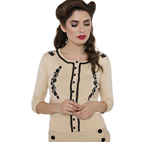 Womens-Voodoo-Vixen-Rita-Raye-Floral-Embroidery-Cardigan-Beige
