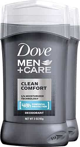Dove Men+Care Deodorant Stick, Clean Comfort 3.0 oz, Pack of 2