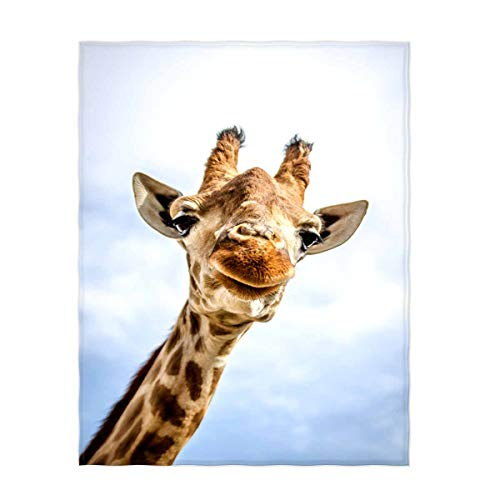 QH 50x80 Inch Cute Giraffe Pattern Super Soft Throw Blanket for Bed Couch Sofa Lightweight Travelling Camping Throw Size for Kids Adults All Season]()